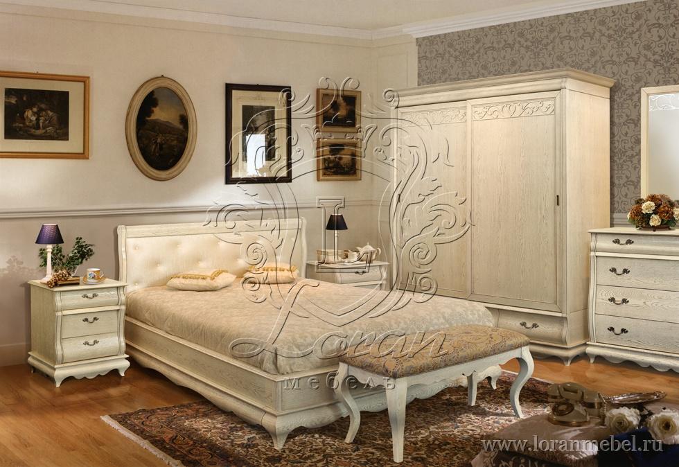 Спальня Оскар, белая эмаль.