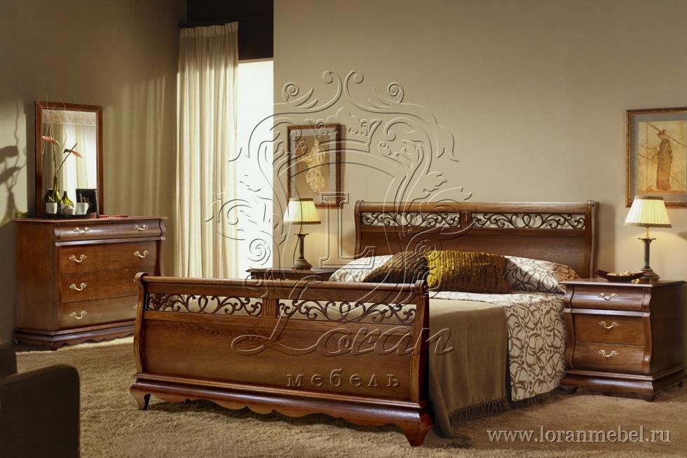 Спальня Оскар, крашение орех.