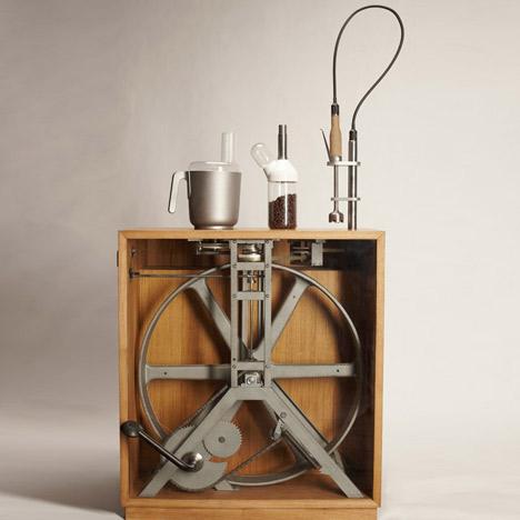 кофемолка с педальным управлением
