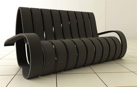 диван в виде спирали