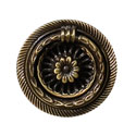 Ручка кольцо на подложке классика, старая бронза 15.250.40.04