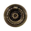 Ручка кольцо на подложке классика, старая бронза 15.250.52.04