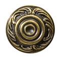 Ручка кнопка классика, античная бронза 15.306.01.12