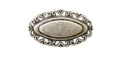 Ручка кнопка классика, античное серебро 32 мм 15.342.32.16