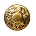 Ручка кнопка классика, французское золото 15.352.01.13