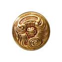 Ручка кнопка классика, французское золото 15.366.25.13