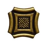 Кнопка Guisti WPO 628. D1. Золото