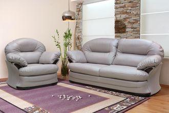 Комплект Йорк (кожа 4069) (диван-кровать и кресло)