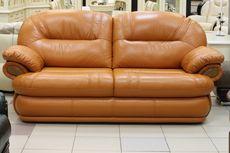 Трёхместный кожаный диван-кровать Орлеан