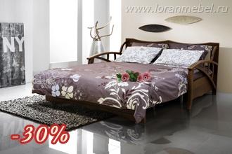 Трехместный диван-кровать из ткани             Кёльн