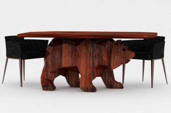 кофейный столик - мишка