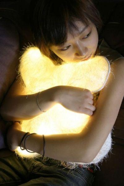 диванные светодиодные подушки