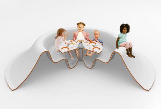 многоместный детский столик