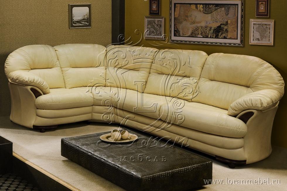 кожаный угловой диван кровать йорк 3 1 купить от производителя