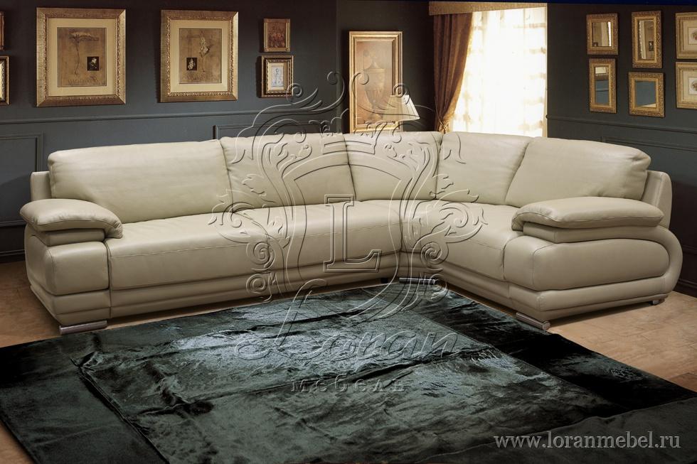 угловой кожаный диван в спб