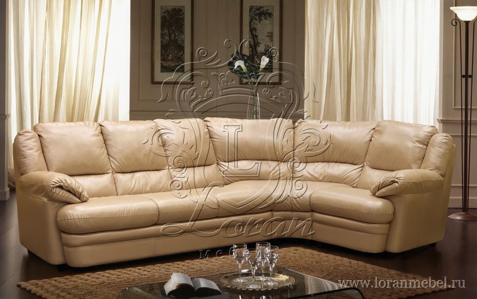 купить большой кожаный диван фото