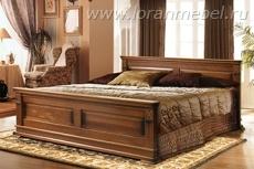Верди Люкс кровать высокое изножье 1600x2000, итальянский орех (массив бука)