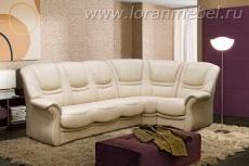 Угловой диван Альфа 3 (кожа)